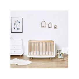 image-Snuzkot Skandi 2 Piece Nursery Furniture Set - Skandi Grey