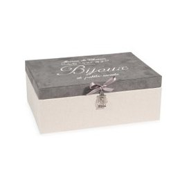 image-Jewellery Box in Beige and Grey