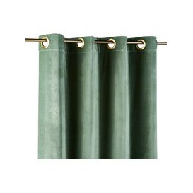 image-Single Lime Green Velvet Eyelet Curtain 140x300