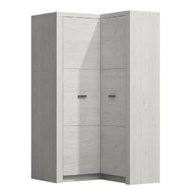 image-Mariko 2 Door Corner Wardrobe Metro Lane Colour: Pure white, Orientation: Left