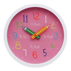 image-Argos Home Children's Clock - Pink