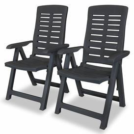 image-Itzel Folding Garden Chair Zipcode Design Colour: Anthracite
