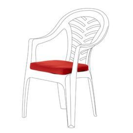 image-Resol Palma Garden Dining Chair Cushion Dakota Fields Colour: Red