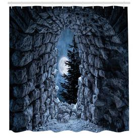 image-Moon Polyester Shower Curtain East Urban Home Size: 220cm H x 175cm W