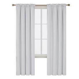image-Jarmericus Blackout Thermal Curtains Mercury Row Panel Size: 140 W x 290 D cm, Colour: Silver White