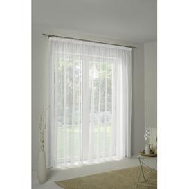 image-Canadice Pencil Pleat Semi Sheer Curtain Ebern Designs Colour: Gold/Grey, Panel Size: 600 W x 225 D cm