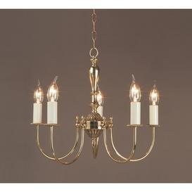 image-SMBB00075/PB Solar 5 Light Brass Pendant Ceiling Fitting