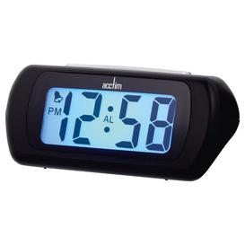 image-Auric LCD Alarm Tabletop Clock Acctim