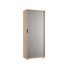 image-Lozano Tall Tambour Unit (Beech), Beech, Free Next Day Delivery