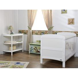 image-Grace Cot Bed 2-Piece Nursery Furniture Set Obaby Colour: White