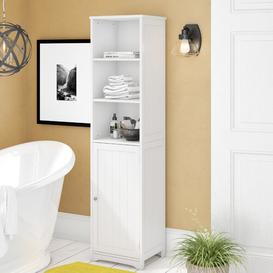 image-40 x 160cm Free Standing Tall Bathroom Cabinet Symple Stuff