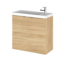 image-Maddalena 255mm Wall Mount Vanity Unit Belfry Bathroom Base Finish: Light Wood