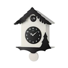 image-Cuckoo Wall Clock AMS Uhrenfabrik Colour: Black and white lacquered finish