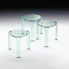 image-Chipley Side Table Wade Logan Size / Finish: 49cm H x 50cm W x 50cm D/ Transparent