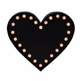 image-LED Love Heart Light Wall Mounted Chalkboard Symple Stuff