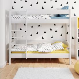image-Sheppard Bunk Bed Isabelle & Max Size: Cot Bed / Toddler (70 x 140 cm), Mattress Included: No