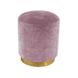 image-Cullinary Concept Small Dusty Pink Velvet Stool