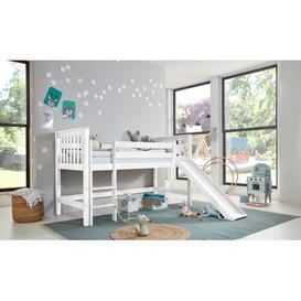 image-Velazquez European Single (90 x 200cm) Mid Sleeper Bed Isabelle & Max Colour: White