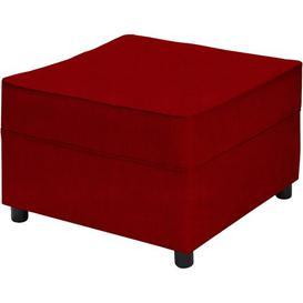 image-Newbury Footstool Mercury Row Upholstery: Kiera Red