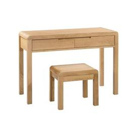 image-Marne Wooden Dressing Table And Stool In Oak
