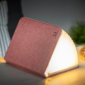 image-Gingko - Linen Large Smart Book Light - Blush Pink