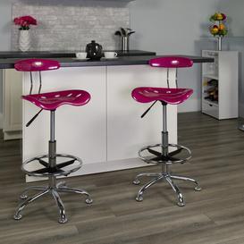 image-Lila Ergonomic Draughtsman Chair Blue Elephant Colour: Pink