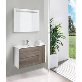 image-Marley 3-Piece Bathroom Furniture Set with LED Mirror Belfry Bathroom
