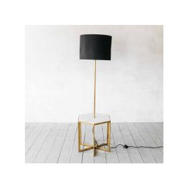 image-Gianna Hex Side Table with Floor Light and Shade