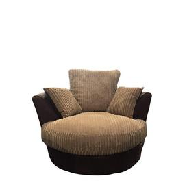 image-Zora Swivel Tub Chair Marlow Home Co. Upholstery: Taupe