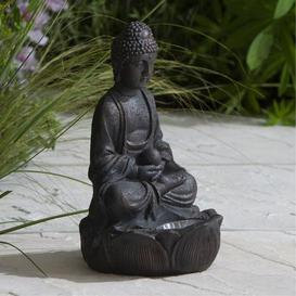 image-Solar Light Up Buddha Bronze