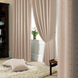 image-Bersum Pencil Pleat Room Darkening Curtains Three Posts Colour: Latte, Panel Size: 116 W x 182 D cm