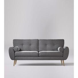 image-Swoon Egle Three-Seater Sofa in Pepper Smart Wool With Light Feet