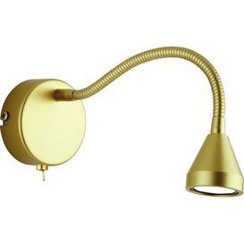 image-Jent Swing Arm Wall Light Brayden Studio Colour: Gold