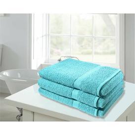 image-Super Jumbo 3 Piece Bath Sheet Towel Bale Symple Stuff Colour: Aqua