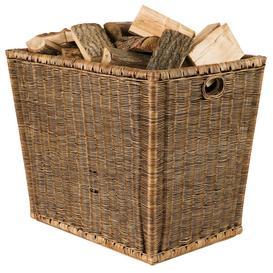 image-Burley Log Rattan Storage Basket - Brown