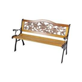 image-Rose Design Wooden Bench