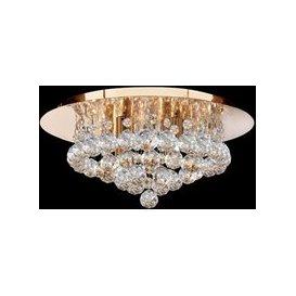 image-Hanna Semi Flush Gold Finish 4 Light Ceiling Light