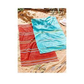 image-Catherine Lansfield Rainbow Beach Towel Pair Red &Amp Aqua