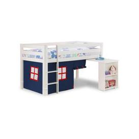 image-Wendy Midsleeper Bunk Bed In Surf White With Blue Tent