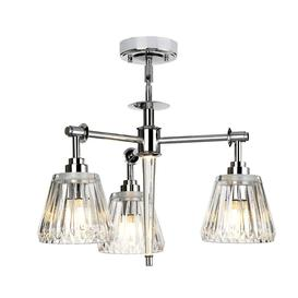 image-Elstead BATH-AGATHA3P-PC Agatha 3 Light Bathroom Ceiling Pendant In Polished Chrome