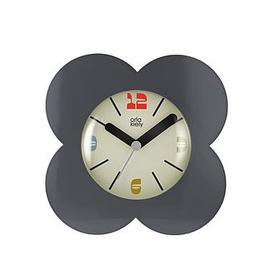 image-Orla Kiely House Flower Alarm Clock - Charcoal