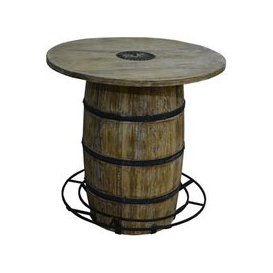 image-Round Barrel Bar Table