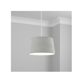 image-Made to Order 30cm French Drum Shade Linoso Mineral