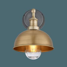 image-Industville Brooklyn Outdoor & Bathroom Dome Wall Light - 8 Inch - Brass / Brass
