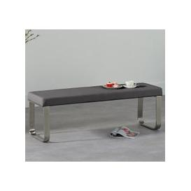 image-Washington Medium Faux Leather Dining Bench In Grey