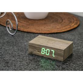 image-Modern Digital Wood Electric Alarm Tabletop Clock Symple Stuff Finish: Ash