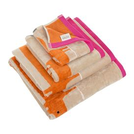 image-Scion - Mr Fox Towel - Cerise & Tangerine - Bath Towel