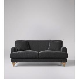 image-Swoon Chorley Two-Seater Sofa in Anthracite Smart Wool With Short Light Feet