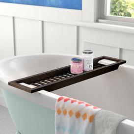 image-Stromberg Bamboo Bath Rack Wayfair BasicsΓäó Finish: Brown