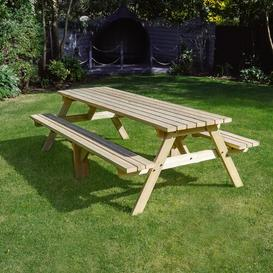image-Oakham Picnic Table Sol 72 Outdoor Finish: Light Green, Table Size: 240cm L x 140cm W